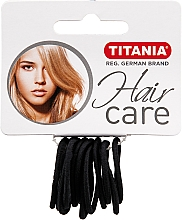 Perfumería y cosmética Gomas elásticas de pelo, pequeñas, negras - Titania
