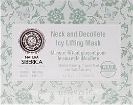 Perfumería y cosmética Mascarilla para cuello y escote con extracto de ginseng, menta orgánica y azarollo - Natura Siberica