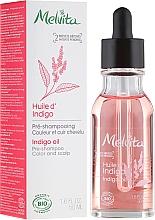 Perfumería y cosmética Aceite de índigo prechampú, bio - Melvita Organic Pre-Shampoo Indigo Oil