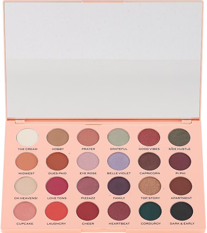 Paleta de sombras de ojos, 24 colores - Makeup Revolution The Emily Edit The Wants Eyeshadow Palette