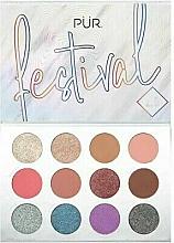 Perfumería y cosmética Paletas de pigmentos prensados - Pur Festival 2.0 12-Piece Pressed Pigments Palette