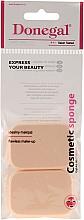 Perfumería y cosmética Esponja rectangular de látex para aplicar la prebase de maquillaje, 2 uds. 1077 - Donegal Sponge Make-Up