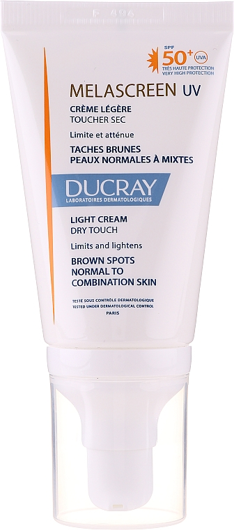 Crema facial despigmentante SPF 50+ - Ducray Melascreen UV Light Cream SPF 50+