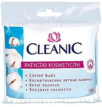 Perfumería y cosmética Bastoncillos de algodón para oídos, 100 uds. - Cleanic Face Care Cotton Buds