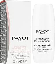 Perfumería y cosmética Desodorante roll-on antitranspirante, sin alcohol - Payot Le Corps Deodorant Ultra Douceur Alcohol Free Roll On Deodorant