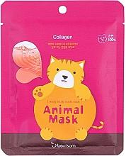 Perfumería y cosmética Mascarilla facial de tejido con colágeno marino - Berrisom Animal Mask Collagen Series Cat