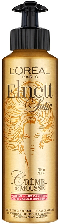 Mousse voluminizador de cabello, fijación fuerte - L'oreal Paris Elnett Satin Mousse Volume Strong Hold — imagen N1