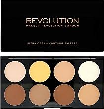 Perfumería y cosmética Paleta para contorno facial - Makeup Revolution Ultra Cream Contour Palette