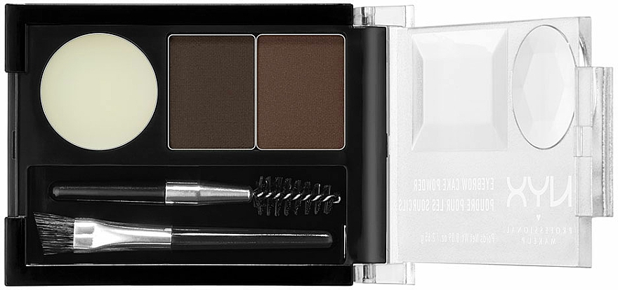 Sombras de cejas para efecto ultra natural con dos cepillos - NYX Professional Makeup Eyebrow Cake Powder