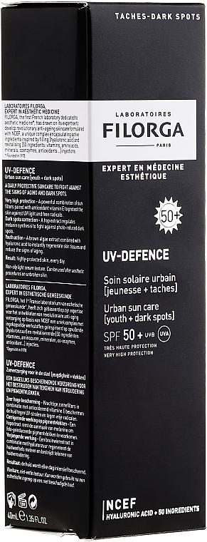 Crema facial de protección solar, SPF 50+ - Filorga Uv-Defence Sun Care SPF50+