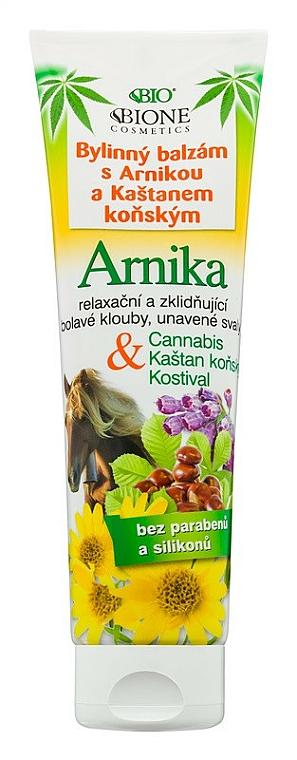 Bálsamo para pies con extracto de árnica y castaño de indias - Bione Cosmetics Cannabis Arnika Herbal Ointment With Horse Chestnut