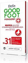 Perfumería y cosmética Mascarilla para pies regeneradora con aceite de soja y manteca de karité - Delia Cosmetics Good Foot Podology Nr 3.1