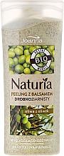 Perfumería y cosmética Gel de ducha exfoliante bio natural con aceite de oliva sin parafina - Joanna Naturia Peeling