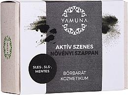 Perfumería y cosmética Jabón vegetal con carbón activado para pieles grasas y apagadas - Yamuna Activated Carbon Vegetable Soap