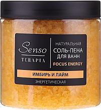 Perfumería y cosmética Sales-espuma de baño naturales energizantes con extractos de jengibre y lima - Senso Terapia Focus Energy