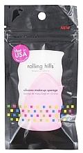 Perfumería y cosmética Esponja de maquillaje de silicona, rosa - Rolling Hills Silicone Makeup Sponge Pink