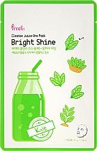 Perfumería y cosmética Mascarilla facial de algodón con extracto de col rizada & frambuesa - Prreti Cleanse Juice One Pack