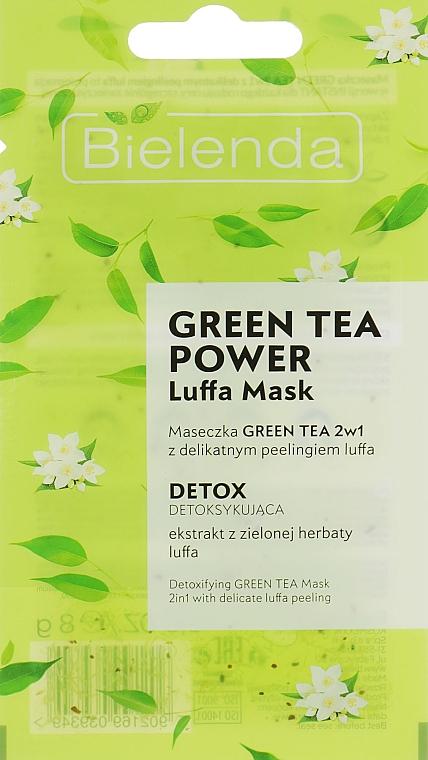 Mascarilla facial detox con té verde - Bielenda Green Tea Power Luffa Mask 2in1