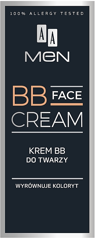 BB crema facial para hombres antiimperfecciones con pigmentos minerales naturales, aceite de borraja y cafeína - AA Men BB Face Cream