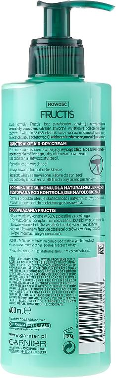 Crema hidratante para cabello con aloe vera - Garnier Fructis Aloe Air-Dry Cream