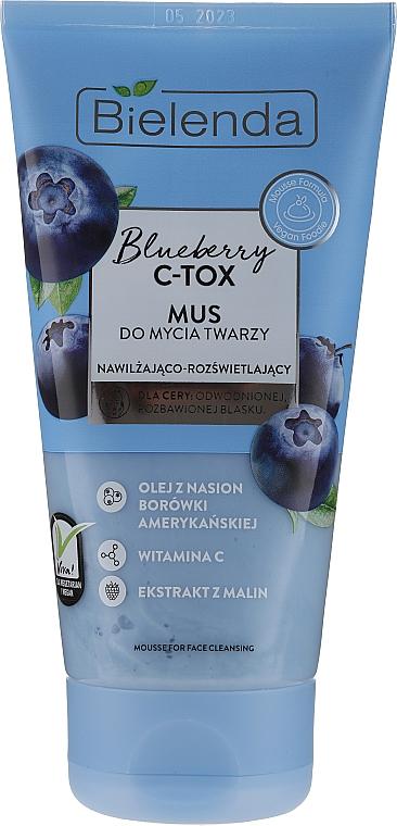Mousse de limpieza facial con vitamina C y extracto de frambuesa - Bielenda Blueberry C-Tox Face Mousse For Face Cleansing