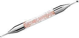 Perfumería y cosmética Punzón bilateral para decoración de uñas, 01 rosa - Elisium