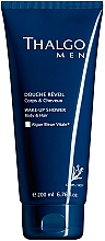 Perfumería y cosmética Gel de ducha para cuerpo y cabello con extracto de algas verdeazuladas - Thalgo Men Wake-Up Shower Gel