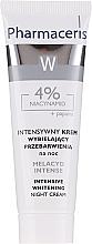 Perfumería y cosmética Crema facial aclarante con niacianamidas y papaína - Pharmaceris Melacyd Intense Whitening Night Face Cream