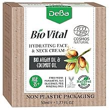 Perfumería y cosmética Crema hidratante para rostro y cuello con aceites de argán y coco - DeBa Bio Vital Hydrating Face and Neck Cream