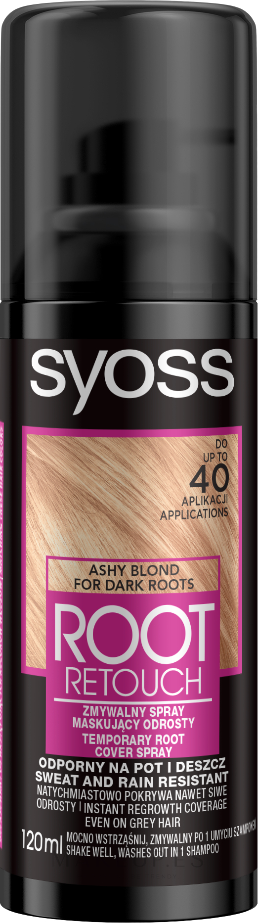 Spray temporal cubre raíces - Syoss Root Retoucher Spray — imagen Ashy Blond