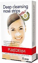 Perfumería y cosmética Tiras limpiadoras de nariz - Purederm Deep Cleansing Nose Pore Strips