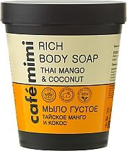 Perfumería y cosmética Jabón corporal espeso con extracto de mango y aceite de coco - Cafe Mimi Soap