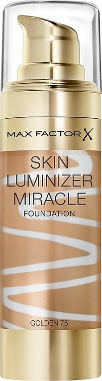 Base de maquillaje iluminadora de cobertura media - Max Factor Skin Luminizer Miracle Foundation