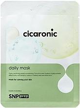 Perfumería y cosmética Mascarilla facial calmante con extracto de centella asiática y ácido hialurónico - SNP Prep Cicaronic Daily Mask