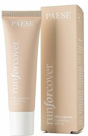 Base de maquillaje de larga duración con efecto mate, SPF 10 - Paese Run For Cover 12H Longwear Fondation SPF10