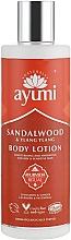 Perfumería y cosmética Loción corporal hidratante con sándalo & ylang-ylang para pieles secas y sensibles - Ayumi Sandalwood & Ylang Ylang Body Lotion