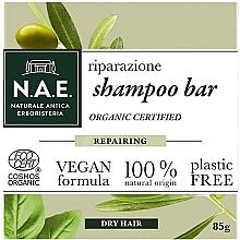 Perfumería y cosmética Champú sólido para cabellos secos con extractos orgánicos de oliva y albahaca - N.A.E. Repairing Shampoo Bar