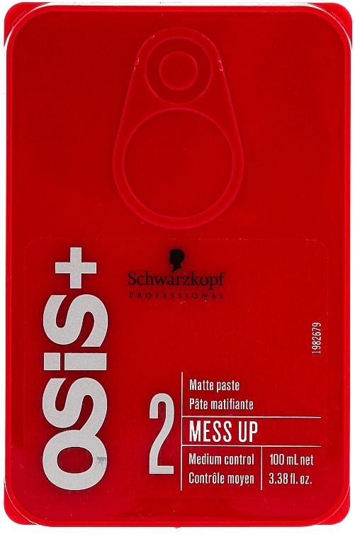 Pasta texturizante moldeadora para cabello con efecto mate - Schwarzkopf Professional Osis+ Mess Up Matt Gum