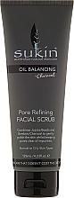Perfumería y cosmética Exfoliante facial con carbón de bambú y aceites de coco & jojoba - Sukin Oil Balancing Plus Charcoal Pore Refining Facial Scrub