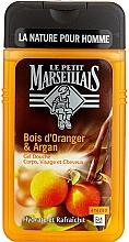 Perfumería y cosmética Gel de ducha para cuerpo y cabello con aceite de argán y naranja - Le Petit Marseillais Men Body and Hair