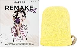 """Perfumería y cosmética Guante desmaquillante, amarilla """"ReMake"""" - MakeUp"""