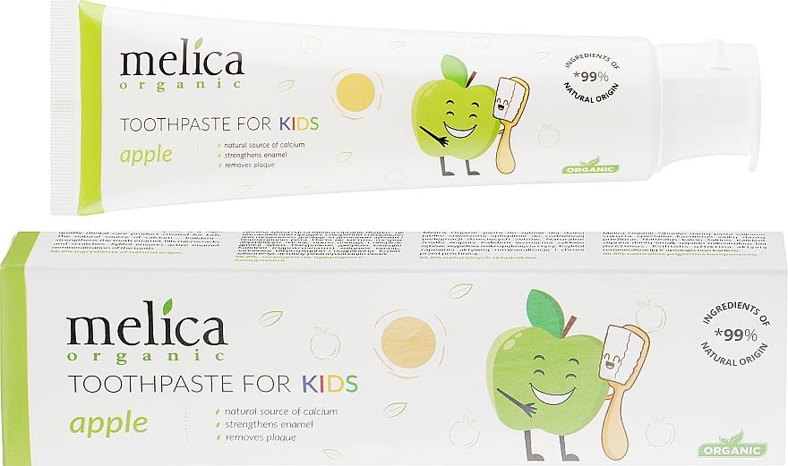 Pasta dental infantil con sabor a manzana - Melica Organic Toothpaste For Kids Apple