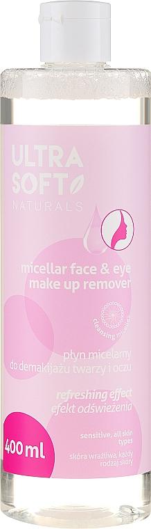 Ultra Soft Naturals Micellar Face Make Up Remover - Agua micelar para rostro y ojos con agua de rosas