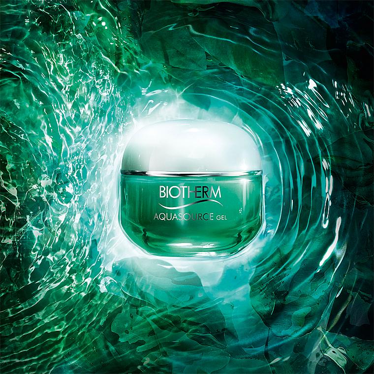 Gel facial regenerador con Aura Leaf medicinal - Biotherm Aquasource Gel — imagen N3