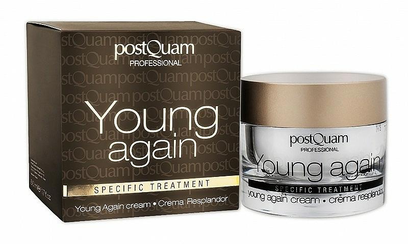 Crema rejuvenecedora para rostro y cuello con aceite de jojoba, aloe vera y alantoína - PostQuam Young Again Cream — imagen N2