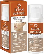 Perfumería y cosmética Fluido protector con color - Ecran Sunnique Antimanchas Color Spf50+