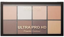 Perfumería y cosmética Paleta de contorno facial en polvo, vegana - Makeup Revolution HD Pro Powder Contour