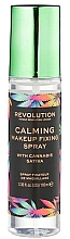 Perfumería y cosmética Spray fijador de maquillaje con aceite de cáñamo - Makeup Revolution Calming Setting Spray with Canabis Sativa
