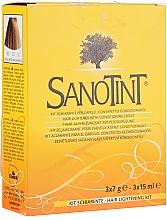 Perfumería y cosmética Kit aclarante para cabello con efecto acondicionador - Sanotint Lightening Kit (polvo decolorante/3x7g + emulsión fijadora/3x15ml)