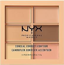 Perfumería y cosmética Paleta de correctores - Nyx Palette Conceal Correct Contour